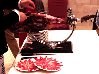 Pure Iberico Ham de Bellota Cinco Jotas 5J Special Edition Carving Table