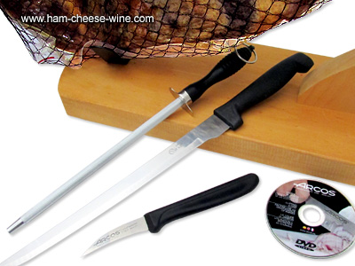 Pure Iberico Bellota Ham Fermín - Economic Ham Carving Kit Details 3