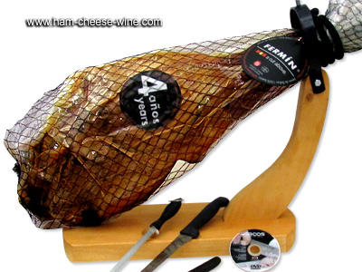 Pure Iberico Bellota Ham Fermín - Economic Ham Carving Kit Details 4