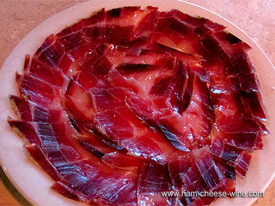 Pure Iberico Ham de Bellota Hand Cut by Knife, 1 Pound