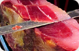 Pure Iberico Ham de Bellota Hand Cut by Knife Details 1
